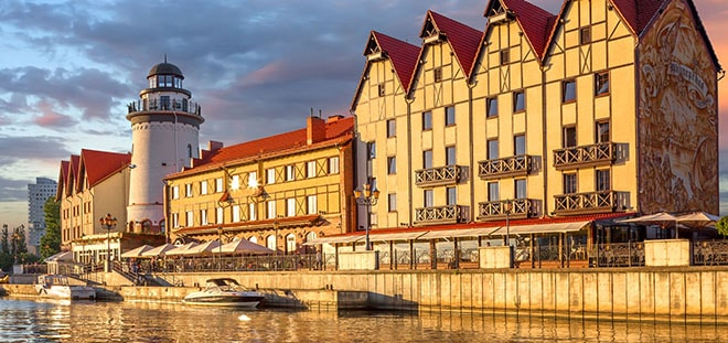 the most romantic place for dating in Kaliningrad